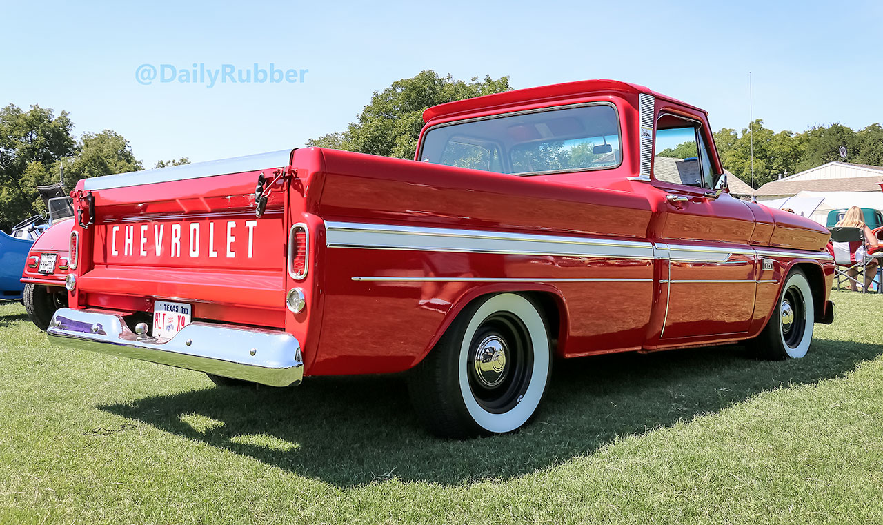 3 Chevy Trucks That Dominated The Summer Car Shows Daily Rubber 1966 C10 Truck Slammed Red Chevrolet