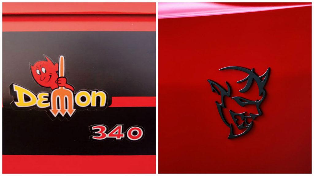 Dodge Demon badges